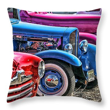 Hot Colored Rods Throw Pillow
