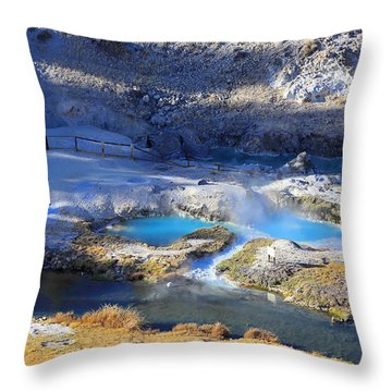 Hot Creek Geologic Site Throw Pillow