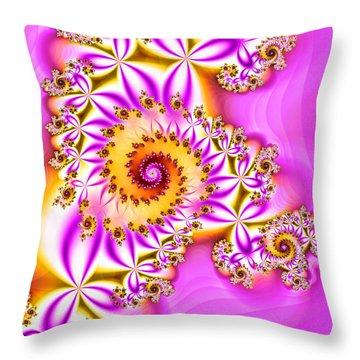 Hot Daisy Throw Pillow