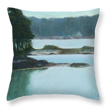 Hot Day In Rockland Me Throw Pillow
