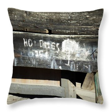 Hot Dogs 15 Cents Throw Pillow by Methune Hively
