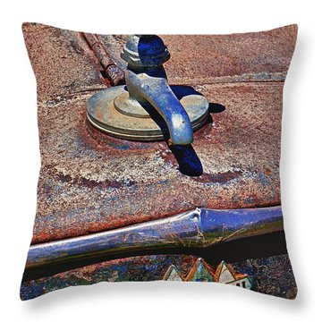 Hot Faucet Hood Ornament Throw Pillow by Garry Gay