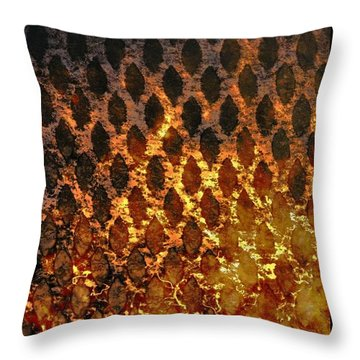 Throw Pillow featuring the digital art Hot Grill by Darla Wood