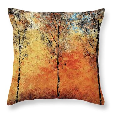 Hot Hillside Throw Pillow by Linda Bailey