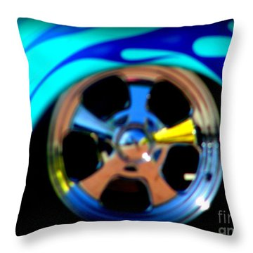 Throw Pillow featuring the photograph Hot Hot Wheels  by Bobbee Rickard