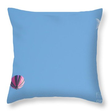 Hot Moon Throw Pillow