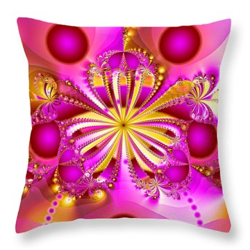 Hot Orchid Throw Pillow by Sylvia Thornton