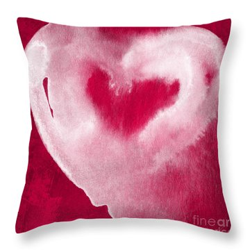 Hot Pink Heart Throw Pillow