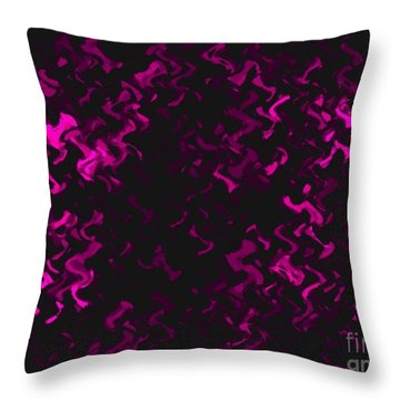 Throw Pillow featuring the photograph Hot Pink Ripples by Anita Lewis