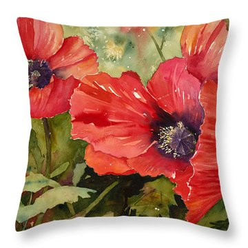 Hot Poppers Throw Pillow by Renee Chastant
