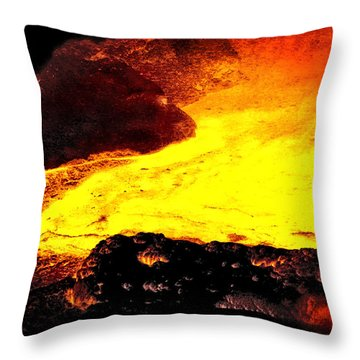 Hot Rock And Lava Throw Pillow