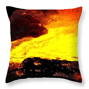 Throw Pillow featuring the photograph Hot Rock And Lava by Pennie  McCracken