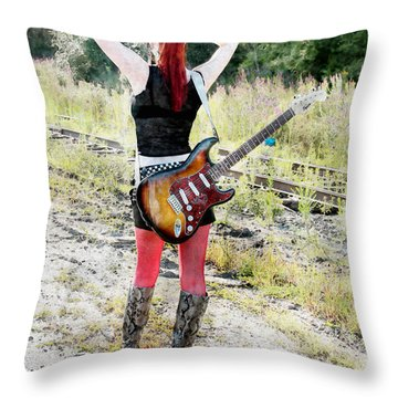 Hot Rocker Throw Pillow