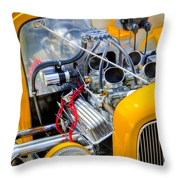 Hot Rod Throw Pillow by Bill Wakeley