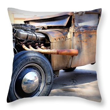 Hot Rod Throw Pillow
