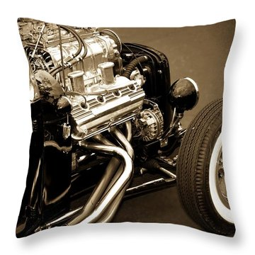 Classic Cars Throw Pillow featuring the photograph Hot Rod Power  by Aaron Berg