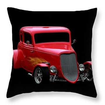 Hot Rod Throw Pillow featuring the photograph Hot Rod Red by Aaron Berg