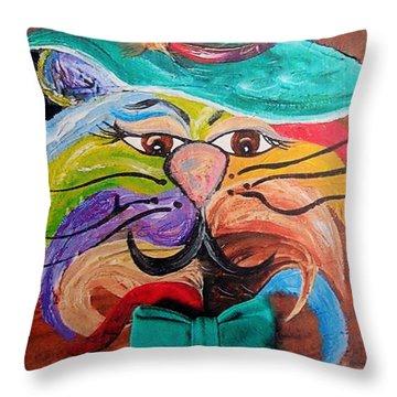 Hot Stuff - One Cool Cat   Throw Pillow by Eloise Schneider