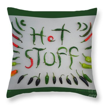 Hot Stuff Throw Pillow by Patricia Overmoyer