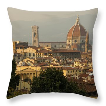 Hot Summer Afternoon In Florence Italy Throw Pillow