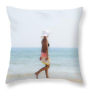 Hot Summer Throw Pillow by Herbert Seiffert