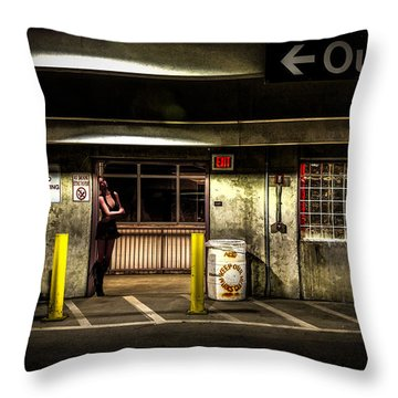 Hot Summer Night Out Throw Pillow by Bob Orsillo