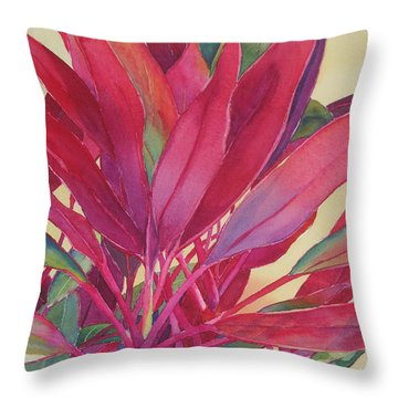 Throw Pillow featuring the painting Hot Ti by Judy Mercer