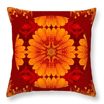 Hot Tropical Zen Throw Pillow