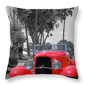 Throw Pillow featuring the photograph Hot V8 by Shoal Hollingsworth