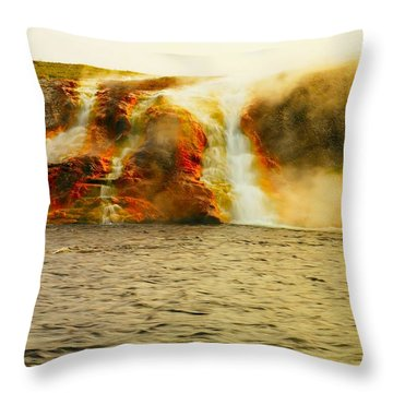 Hot Water Pouring Throw Pillow by Jeff Swan