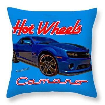 Hot Wheels Camaro Throw Pillow