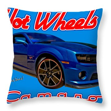Hot Wheels Camaro Throw Pillow