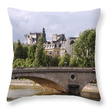 Hotel De Ville In Color Throw Pillow by Heidi Hermes
