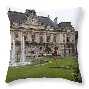 Hotel De Ville - Tours Throw Pillow by Christiane Schulze Art And Photography