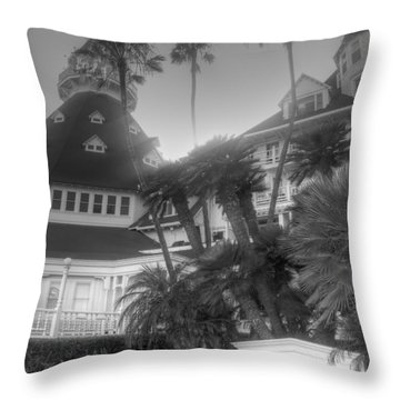 Hotel Del At Sunset Throw Pillow