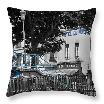 Hotel Du Nord Throw Pillow