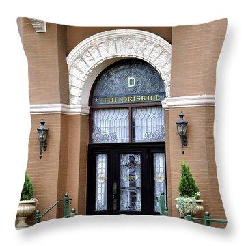 Hotel Door Entrance Throw Pillow