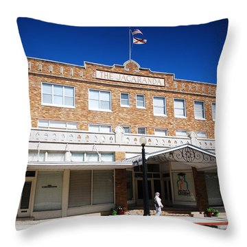 Hotel Jacaranda Throw Pillow