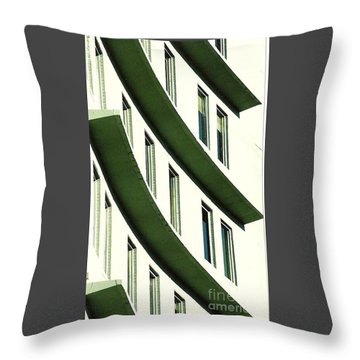 Throw Pillow featuring the photograph Hotel Ledges Of A New Orleans Louisiana Hotel by Michael Hoard