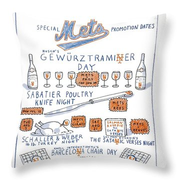 Hottest Tix In Town Special Mets Promotion Dates Throw Pillow