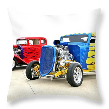 Throw Pillow featuring the photograph Hotties by Christopher McKenzie