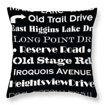 Houghton Higgins Subway Sign Throw Pillow