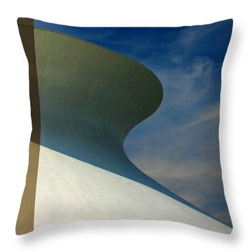 Hourglass Dome Cloud Swirl Throw Pillow