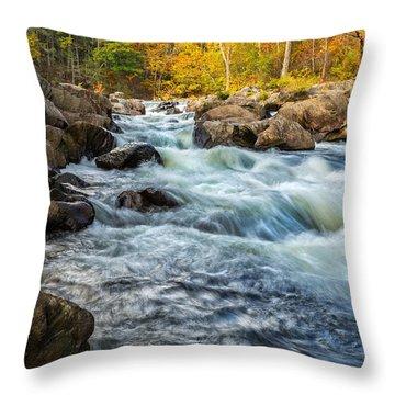 Housatonic River Autumn Throw Pillow by Bill Wakeley