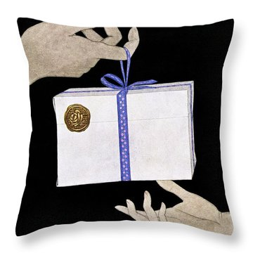 House And Garden Cover Illustration Of A Christmas Throw Pillow