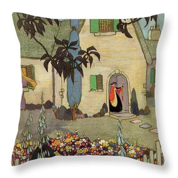 House & Garden Cover Illustration Of An Throw Pillow
