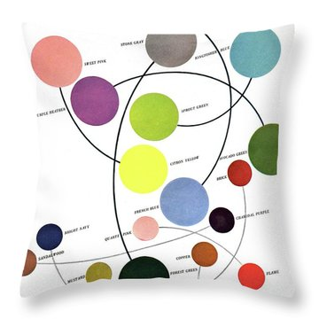 An Illustration Of Color Throw Pillow