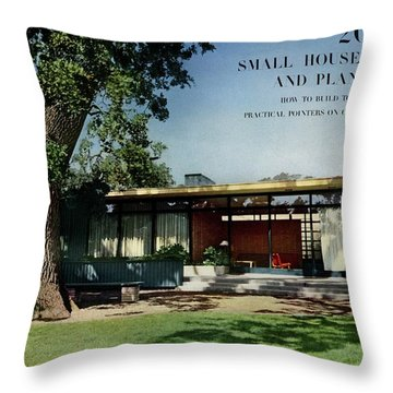 House & Garden Cover Of The Kurt Appert House Throw Pillow