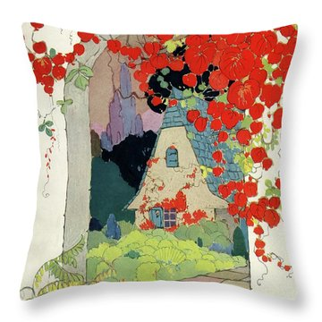 House And Garden Autumn Decorating Number Throw Pillow