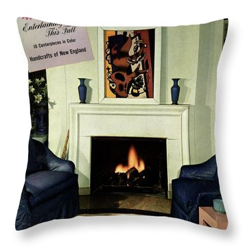 House And Garden Cover Featuring A Living Room Throw Pillow